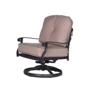 Fleur De Lis Living Bean Club Swivel Rocking Chair w/ Cushions