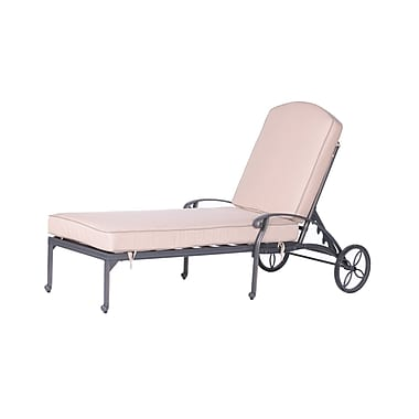 Fleur De Lis Living Bean Single Chaise Lounge w/ Cushion