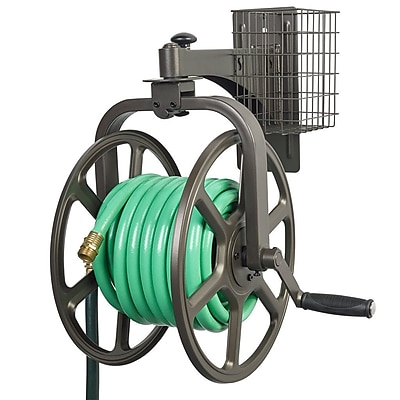 Liberty Products Single Arm Navigator Multi-Directional Steel Hose Reel