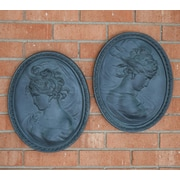 Hickory Manor House French 2 Piece Outdoor Cameo Essex Lead Wall D cor Set