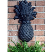 Hickory Manor House Outdoor Pineapple Plaque Wrought Iron Wall D cor