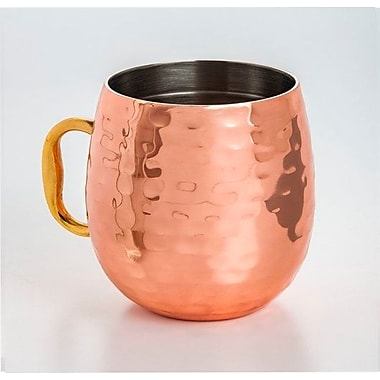 Ivy Bronx Galyean Double Wall Copper Plated 18 oz. Moscow Mule Cup (Set of 2)