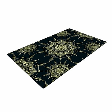 East Urban Home Shirlei Patricia Muniz Mystic ll Abstract Green Area Rug; 4' x 6'
