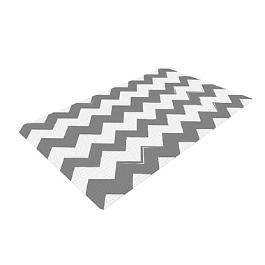 East Urban Home Candy Cane Chevron Gray Area Rug