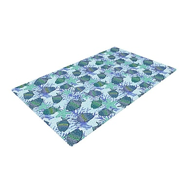 East Urban Home Julia Grifol My Fishes Blue/Teal Area Rug; 4' x 6'