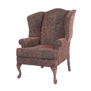 Fleur De Lis Living Bayridge Wingback Chair; Cranberry