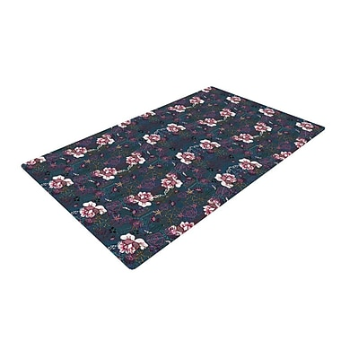 East Urban Home DLKG Design Cool Stitch Purple/Navy Area Rug; 4' x 6'