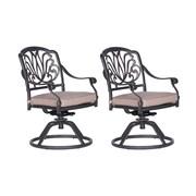 Fleur De Lis Living Bean Swivel Rocking Chair w/ Cushions (Set of 2)