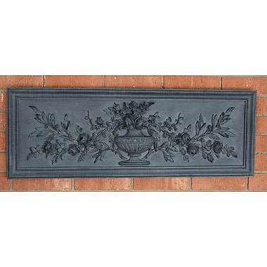 Hickory Manor House French Outdoor Floral Plaque/Essex Lead Wall D cor