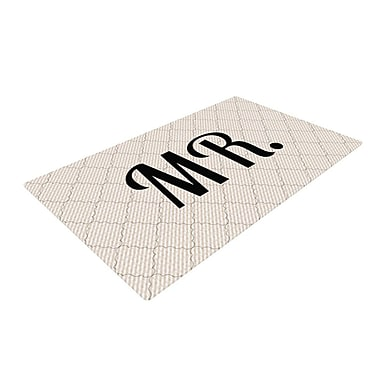 East Urban Home Mr. Black/White Area Rug