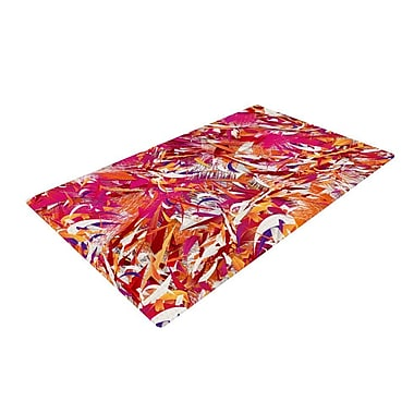 East Urban Home Danny Ivan You Red/Pink Area Rug; 4' x 6'