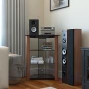 Ebern Designs Ashton Multi-Level Audio Rack; Wood Cherry