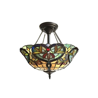 Astoria Grand Laurie 2-Light Semi Flush Mount