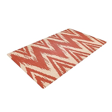 East Urban Home Heidi Jennings Tribal Chevron Maroon/Red Area Rug; 2' x 3'