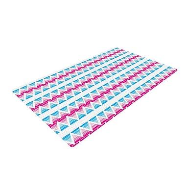 East Urban Home Apple Kaur Designs Swimming Pool Tiles Blue/Pink Area Rug; 2' x 3'