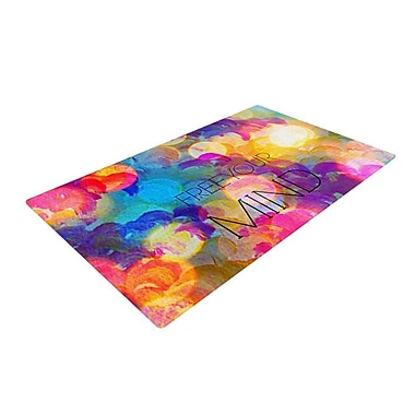 East Urban Home Ebi Emporium Free Your Mind Rainbow Area Rug; 2' x 3'