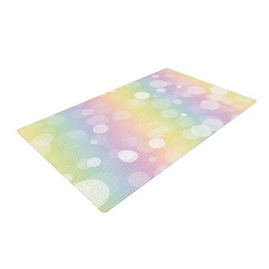 East Urban Home Prism Bokeh Rainbow/Pastel Area Rug
