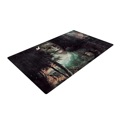 East Urban Home Suzanne Carter Lady Grace Dark Area Rug; 4' x 6'