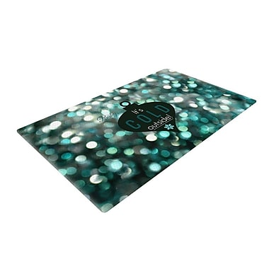 East Urban Home Robin Dickinson It's Cold Outside Teal Area Rug; 4' x 6'
