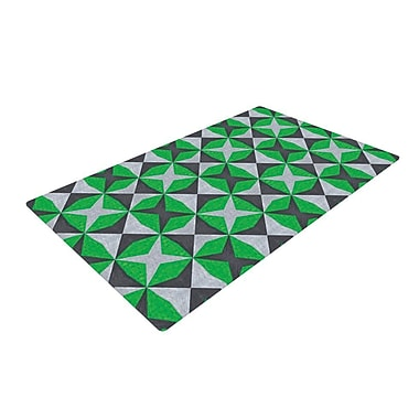 East Urban Home Empire Ruhl Abstract Green/Black Area Rug; 2' x 3'