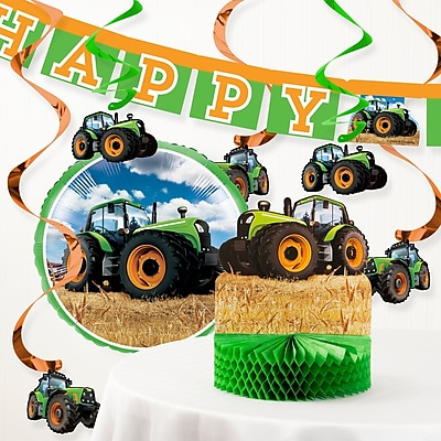 The Holiday Aisle Tractor Time Birthday Party Decoration Kit