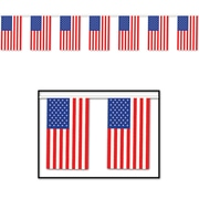 The Holiday Aisle Patriotic American Flag Pennant Banner