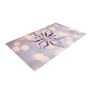 East Urban Home Sylvia Cook Starbright Holiday Ivory Area Rug; 2' x 3'