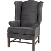 Darby Home Co Wayne Chippendale Wingback Chair; Charcoal