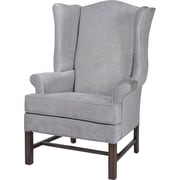 Darby Home Co Wayne Chippendale Wingback Chair; Silver