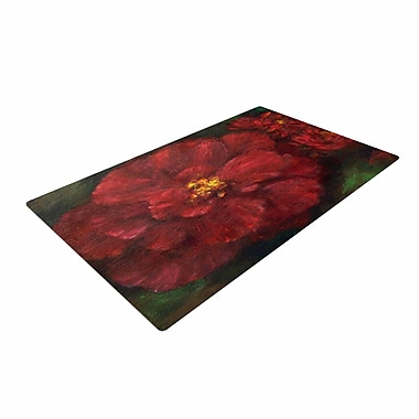 East Urban Home Cyndi Steen My Beauty Red/Green Area Rug