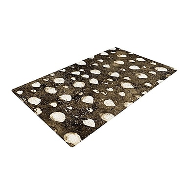 East Urban Home Iris Lehnhardt Dots Grunge Brown/White Area Rug; 2' x 3'