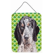 East Urban Home St. Patrick's Day Shamrock Print on Plaque; Blue Tick Coonhound
