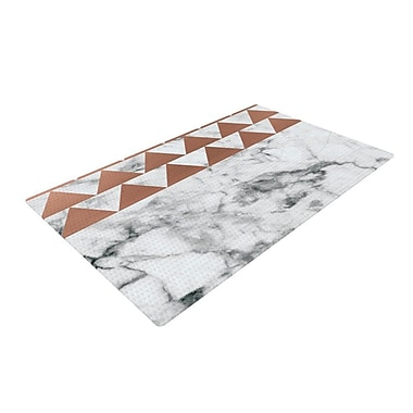 East Urban Home Metal Marble/White Area Rug