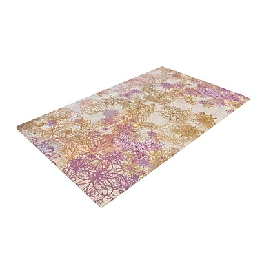 East Urban Home Marianna Tankelevich Retro Summer Yellow/Pink Area Rug; 2' x 3'