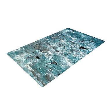 East Urban Home CarolLynn Tice Shuffling Teal/Blue Area Rug; 2' x 3'