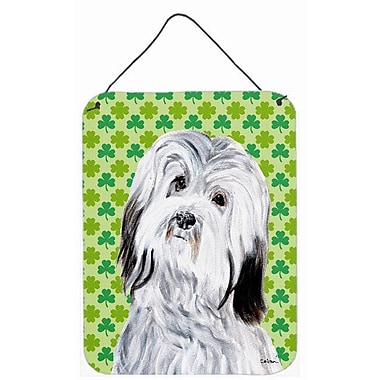 East Urban Home St. Patrick's Day Shamrock Print on Plaque; Havanese
