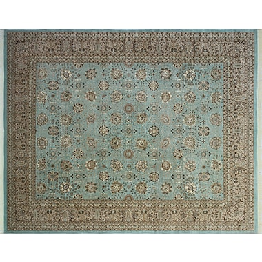World Menagerie Arthen Hand-Knotted Blue Area Rug