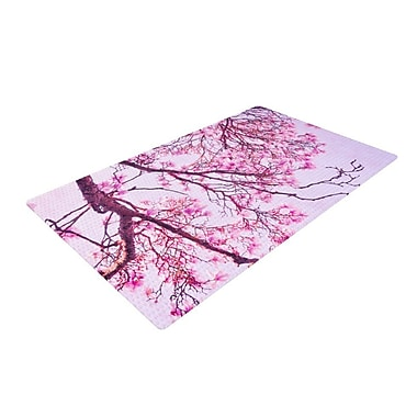 East Urban Home Iris Lehnhardt Magnolia Trees Branches Pink Area Rug; 4' x 6'