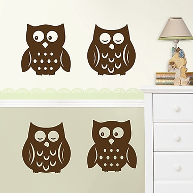 WallPops! 4 Piece Owl Silhouette Wall Decal