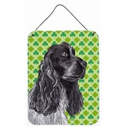 East Urban Home St. Patrick's Day Shamrock Print on Plaque; Cocker Spaniel (Silver)
