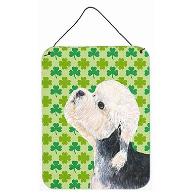 East Urban Home St. Patrick's Day Shamrock Print on Plaque; Dandie Dinmont Terrier