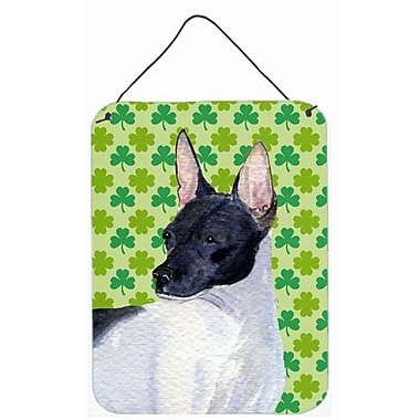 East Urban Home St. Patrick's Day Shamrock Print on Plaque; Rat Terrier