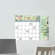 WallPops! Vintage Bazaar Dry Erase Monthly Calendar Whiteboard Wall Decal