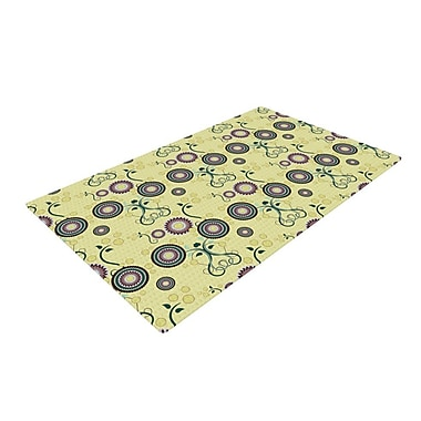 East Urban Home Mydeas Spring Florals Yellow Area Rug; 4' x 6'