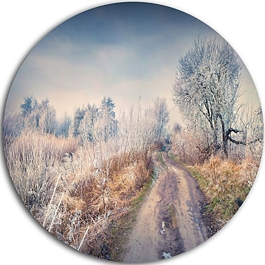 DesignArt 'First Frost in Forest' Photographic Print on Metal; 11'' H x 11'' W x 1'' D