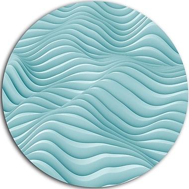 DesignArt 'Fractal Rippled Blue 3D Waves' Graphic Art Print on Metal; 11'' H x 11'' W x 1'' D