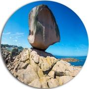DesignArt 'Pink Rock in Tregastel' Photographic Print on Metal; 38'' H x 38'' W x 1'' D
