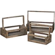 Gracie Oaks Belves 3 Piece Wood Planter Box Set