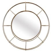 Corrigan Studio Circular Bronze Accent Wall Mirror