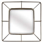 Corrigan Studio Square Bronze Accent Wall Mirror